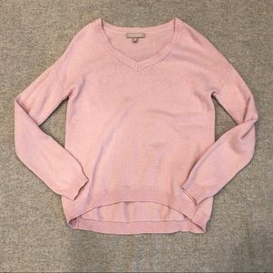 Banana Republic Luxe V-Neck in Cheeky Pink